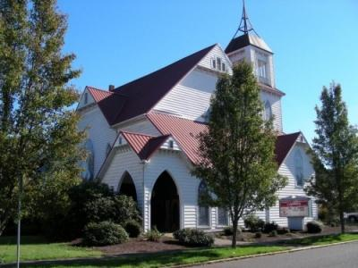 Front of the church facing 2nd street